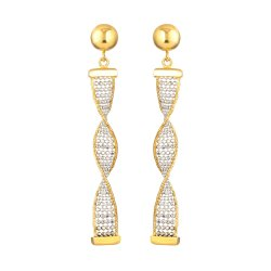 22 Carat Gold EarringWith Rhodium PolishWt. 4.9 gSKU. 31773All prices include VATGoldHallmarked by London Assay Office22 Carat Gold Earring Comes With Presentation BoxDelivery IncludedLive chat with us for availability and more images of similar designs currently in stock
