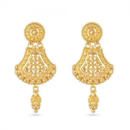 22 Carat Gold Filigree Bridal Earring UK