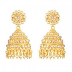 Diya 22ct Gold Uncut Polki Diamond Bridal Earring
