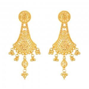 22 Carat Gold Filigree Earringwt. 12.9gSku 32084All prices include VATAll our products are hallmarked by London Assay OfficeAll Pure Gold earrings Comes With Presentation BoxDelivery IncludedLive chat with us on Whatsapp for more images and video of our Indian style Bridal Earrings.