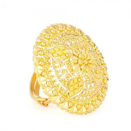 22ct Gold Ladies Ring with filigree designRing Size. AdjustableRing wt. 8.7 gmsSKU. 3236722ct GoldHallmarked by London Assay OfficeComes With Presentation BoxDelivery IncludedAll prices include VATLive chat with us for availability and more images of similar designs currently in stock