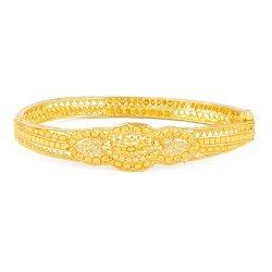 22ct Gold Indian Single Bangle