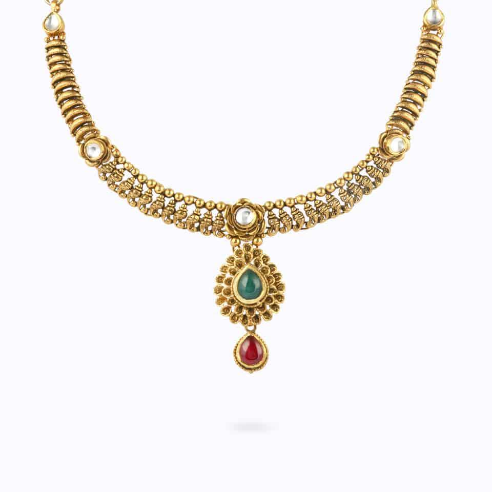 22ct Gold Kundan NecklaceWt. 22.8 gSKU. 23967All prices include VATAll our products are hallmarked by London Assay OfficeAll Sets Comes With Presentation BoxDelivery IncludedContact us / chat with us in whatsapp to explore our exquisite range of Kundan set