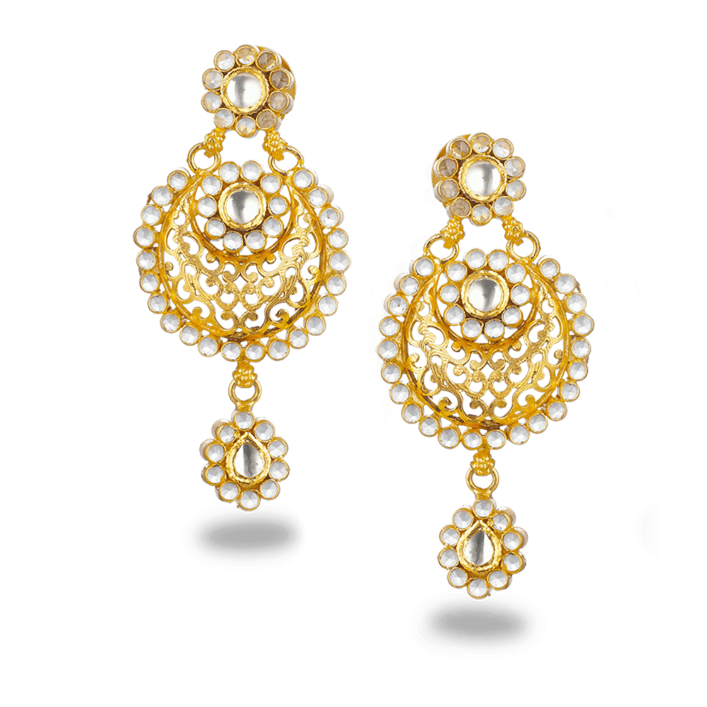 22ct Gold Earring With Antique Finish and Polki StonesWt: 15.4 gmsAll prices include VAT22ct GoldHallmarked by London Assay OfficeComes With Presentation BoxDelivery IncludedLive chat with us to view the entire collection in store.