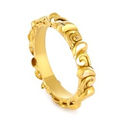 22 Carat Gold Ring With Antique Finish