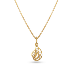 22ct Gold Light Nature Inspired Pendant YGPN046