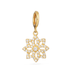 22ct God Flower Inspire Pendant YGPN296