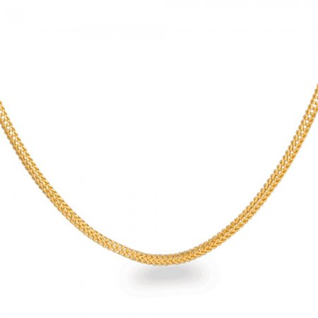 22ct Gold Foxtail Chain 8gm 20 Inches