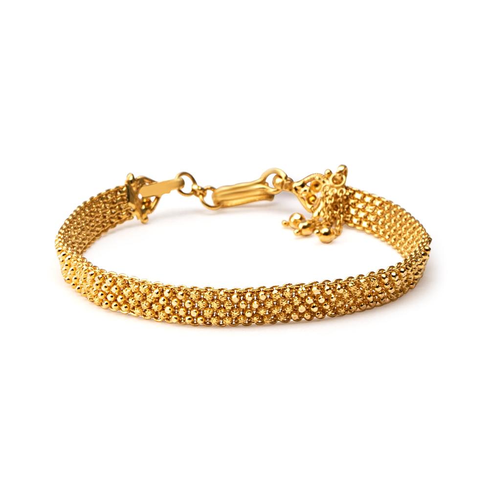 22ct Gold Heavy Wide Patta Ladies Bracelet YGBR080
