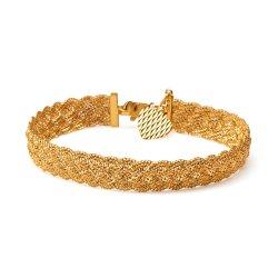 22ct Gold Ladies Bracelet Broad Twisted Chain YGBR012