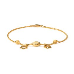 22ct Gold Ladies Bracelet With Gold beads YGBR128