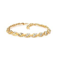 22ct Gold Medium Flat Patta Ladies Bracelet YGBR007