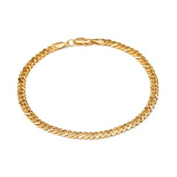 22ct Gold Light Curb Gents Bracelet YGGB035