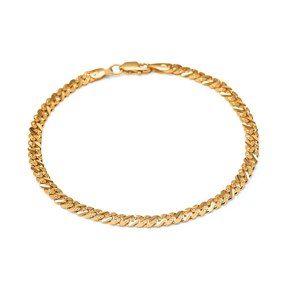 22ct Gold Light Curb Gents Bracelet YGGB035