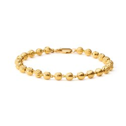 22ct Gold Medium Ball Ladies Bracelet YGBR018