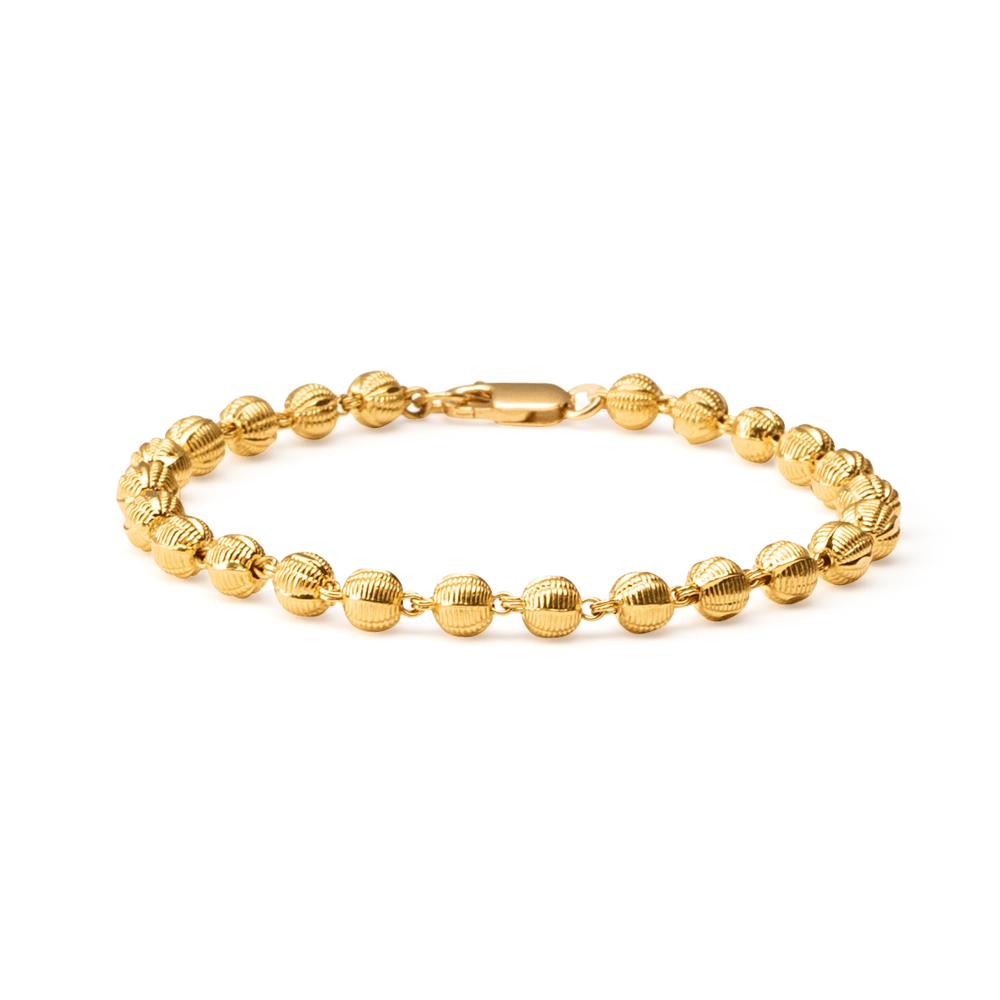 22ct Gold Medium Ball Ladies Bracelet YGBR018