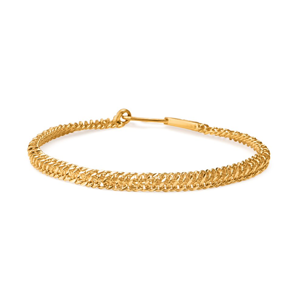 22ct Gold Heavy Wide Patta Ladies Bracelet YGBR081