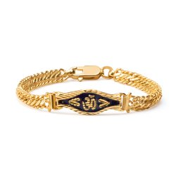 22ct Gold Medium Enamel Ladies Bracelet YGBR027