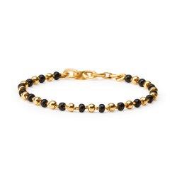 22ct Gold Light Black Beads Baby Bracelet YGBT027