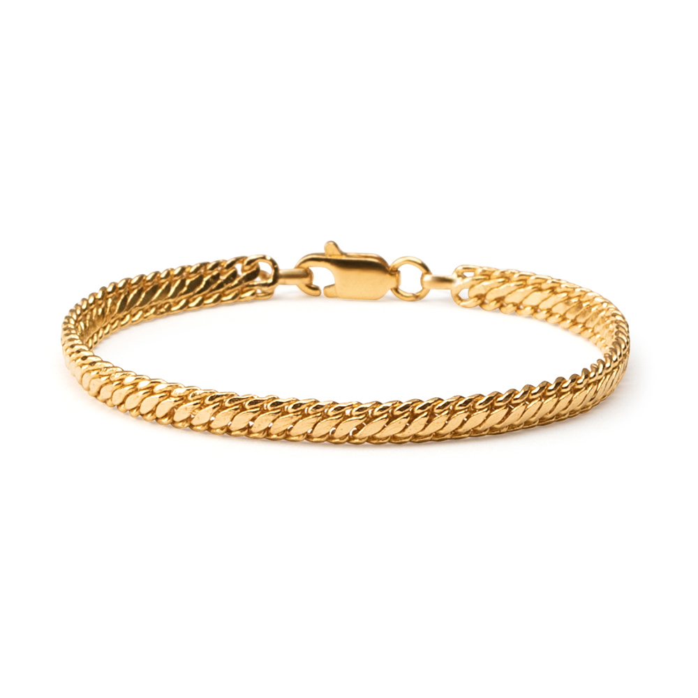 22ct Gold Medium Wide Patta Ladies Bracelet YGBR130