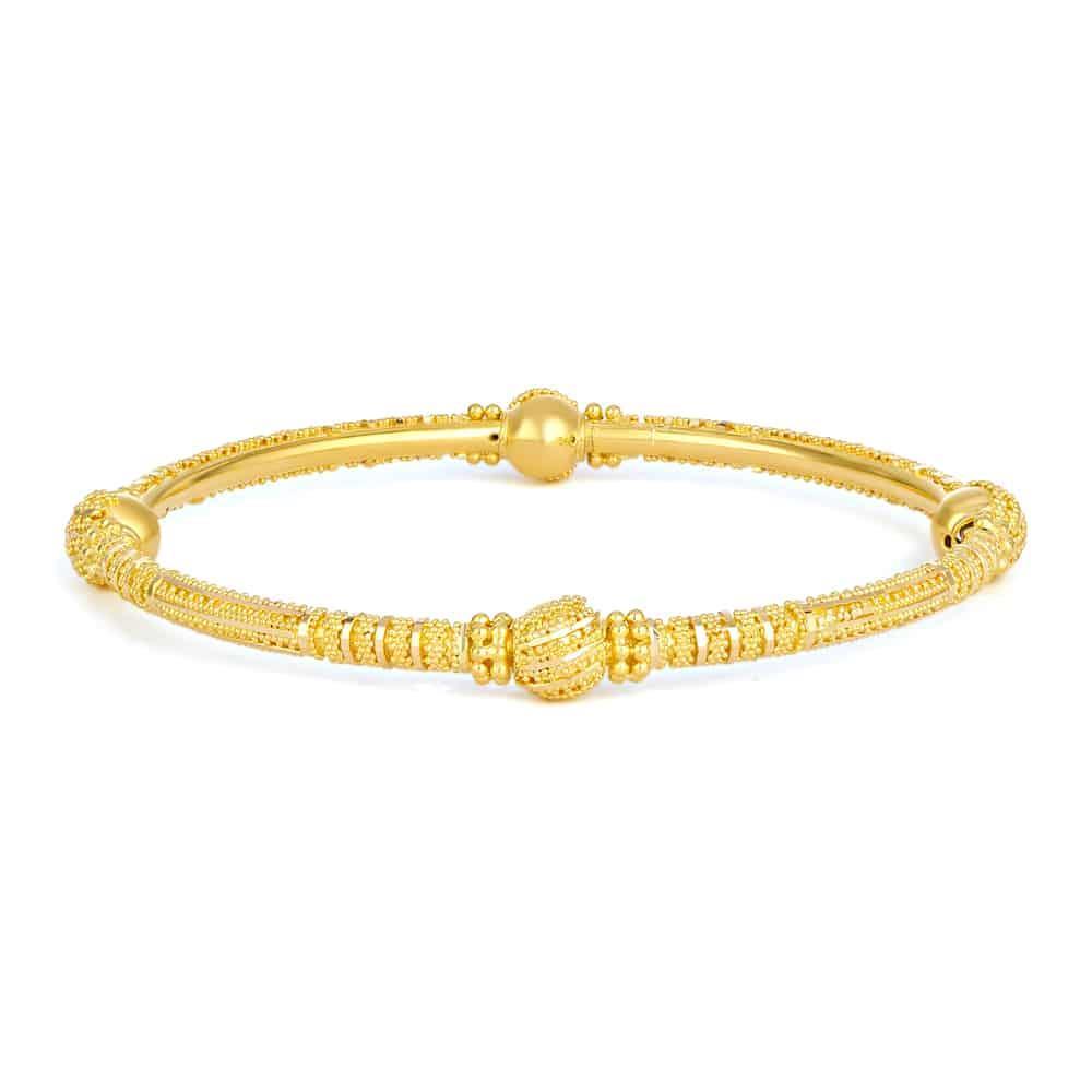 Jali Collection 22ct Gold Kada Hollow JLKD488