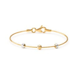 22ct Gold Baby Bangle Wired Ball YGBB047