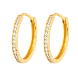 22ct Gold Light White CZ Stone Bali Earring YGER265