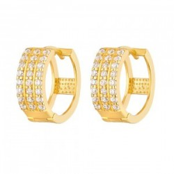 22ct Gold Light White CZ Stone Bali Earring YGER264