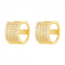22ct Gold Light White CZ Stone Bali Earring YGER263