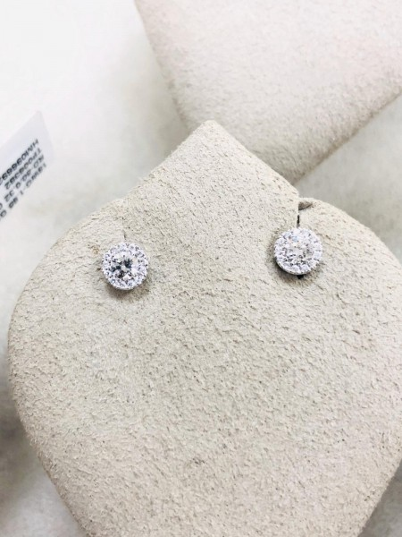 18ct White Gold Diamond Studs 0.33ct
