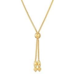 22ct Gold Choker Diamond Cut Balls with Droplets YGCK046