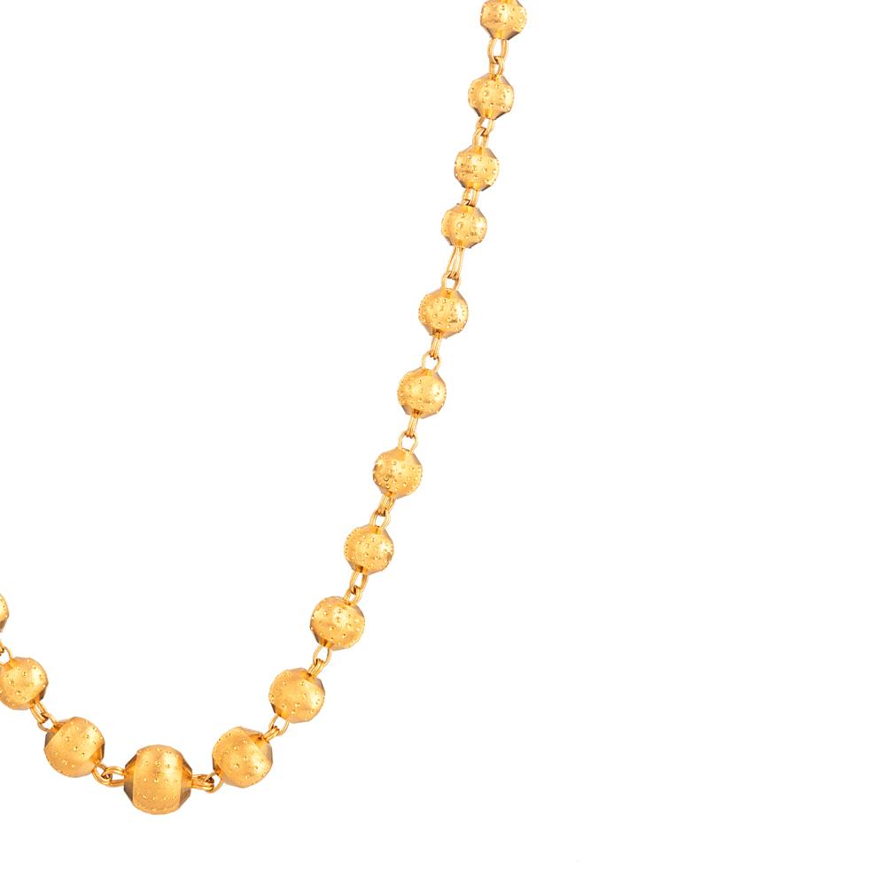 22ct Gold Mala Gold Bead Mala YGML056