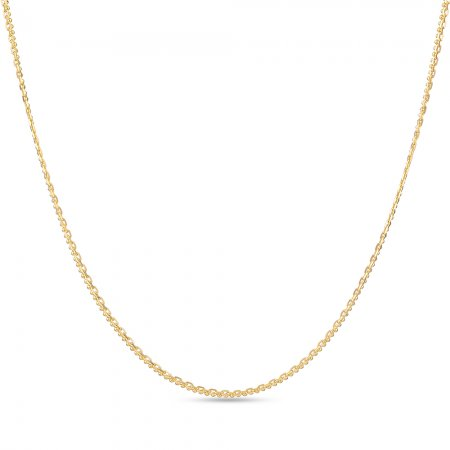 22ct Gold Chain 16 Inches Double Flat Trace Link CHDT010
