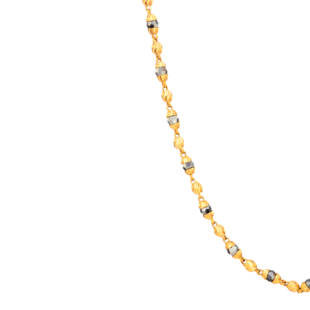 22ct Gold Medium Single line Chain Mangalsutra YGMG082