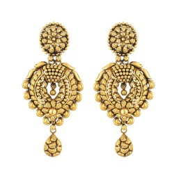 22 Carat Gold Antique Finish Indian EarringWt. 17.8 gSKU. 28719All prices include VATAll our products are Hallmarked by London Assay OfficeComes With Presentation BoxDelivery IncludedChat with us /Whats app  to view the entire new range of New Bridal earring available at our store at forest gate, London,UK