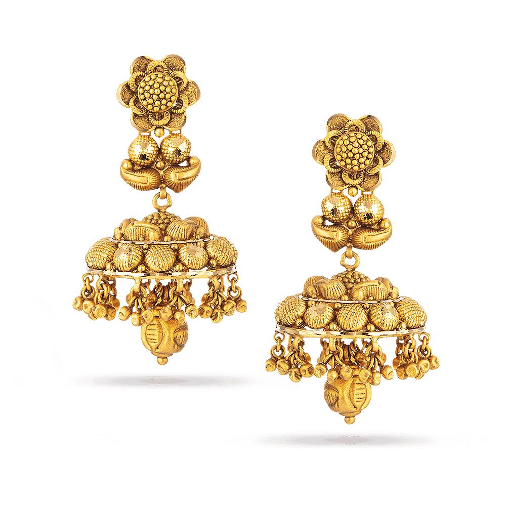 Rosettes 22ct Antique Heavy Jumkha Earring RSER031