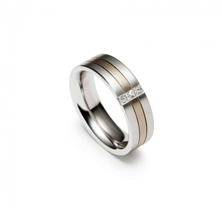Christian Bauer Dual Shade Wedding Band Ring