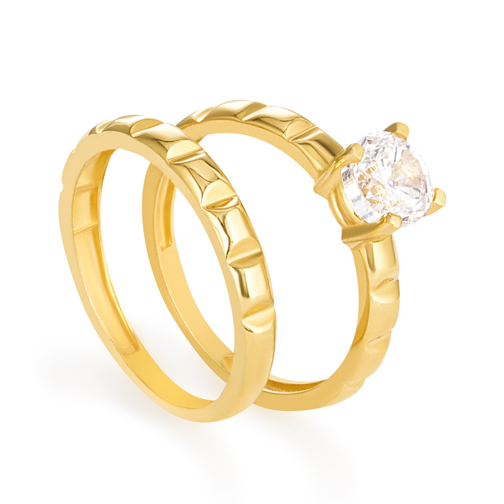 22 carat Indian Gold Wedding Band UkWt. 1.6gSize K1/2Sku 30745Can be made to order to your finger sizeAll prices include VATPrice does not include the matching engagement ring.All our products are hallmarked by London Assay OfficeComes With Presentation BoxDelivery IncludedContact us to see more similar designs & videosMatching Engagement Ring available22 ct Asian Gold Engagement RingStudded With Cubic Zirconia stoneSku 30742Size LWeight 2.5 gPrice £175Can be made to order to your finger size