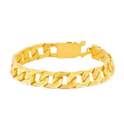 22ct Gold Heavy Flat Patta Gents Bracelet YGGB027