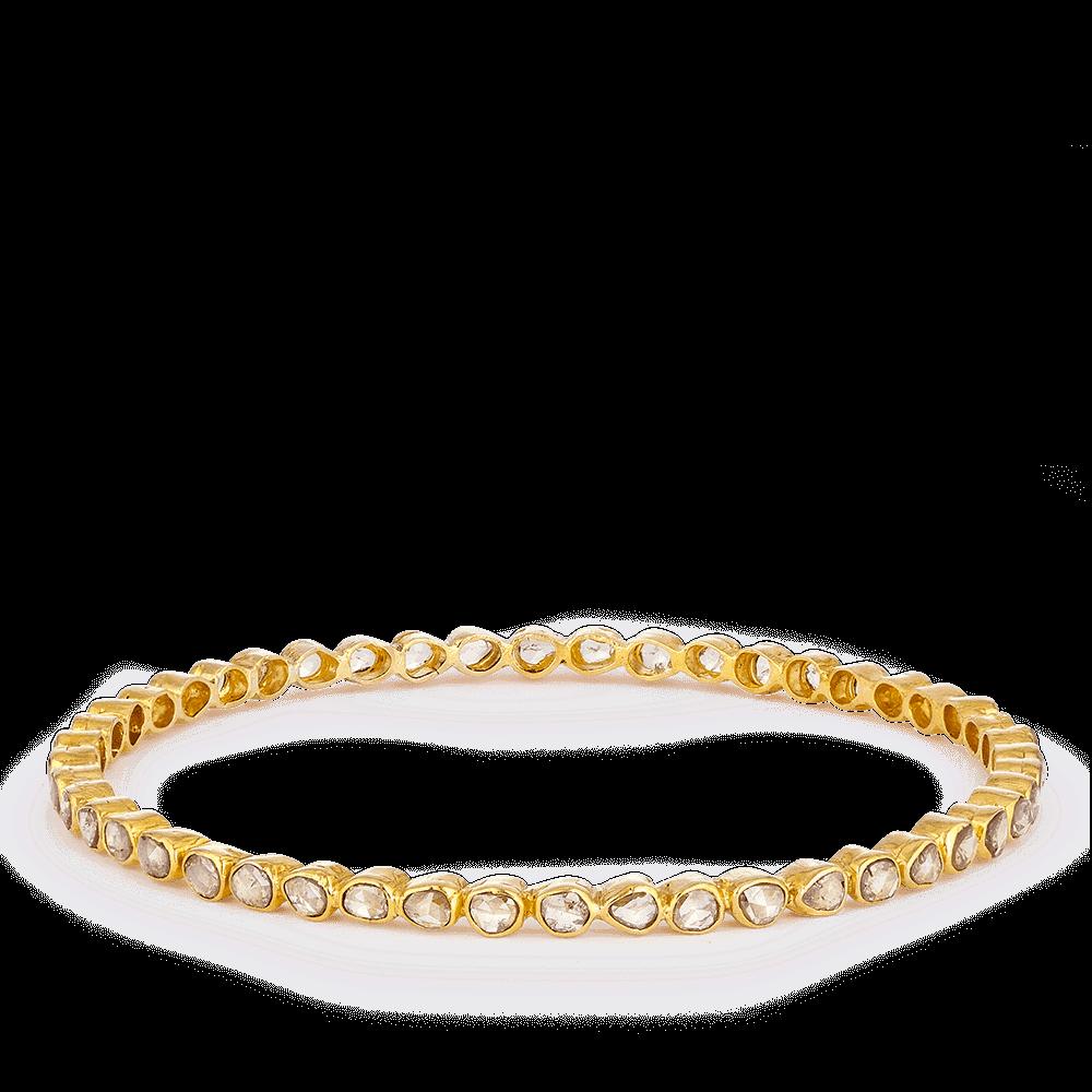 Diya 22ct Gold Bridal Uncut Polki Diamond Bangle
