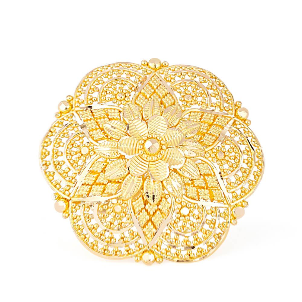 22ct Gold Ladies Ring with filigree designRing Size. MRing wt. 8.8 gSku. 3236822ct GoldHallmarked by London Assay OfficeComes With Presentation BoxDelivery IncludedAll prices include VATLive chat with us for availability and more images of similar designs currently in stock