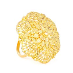 22ct Gold Ladies Ring  with filigree designRing Size. MRing wt. 8.8 gSku.  3236822ct Gold Hallmarked by London Assay OfficeComes With Presentation BoxDelivery IncludedAll prices include VATLive chat with us for availability and more images of similar designs currently in stock