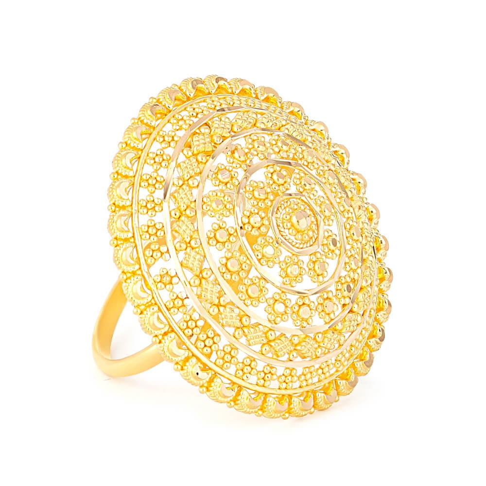 22ct Gold Ladies Ring with filigree designRing Size. O 1/2Ring wt. 8.5 gmsSKU. 3236922ct GoldHallmarked by London Assay OfficeComes With Presentation BoxDelivery IncludedAll prices include VATLive chat with us for availability and more images of similar designs currently in stock