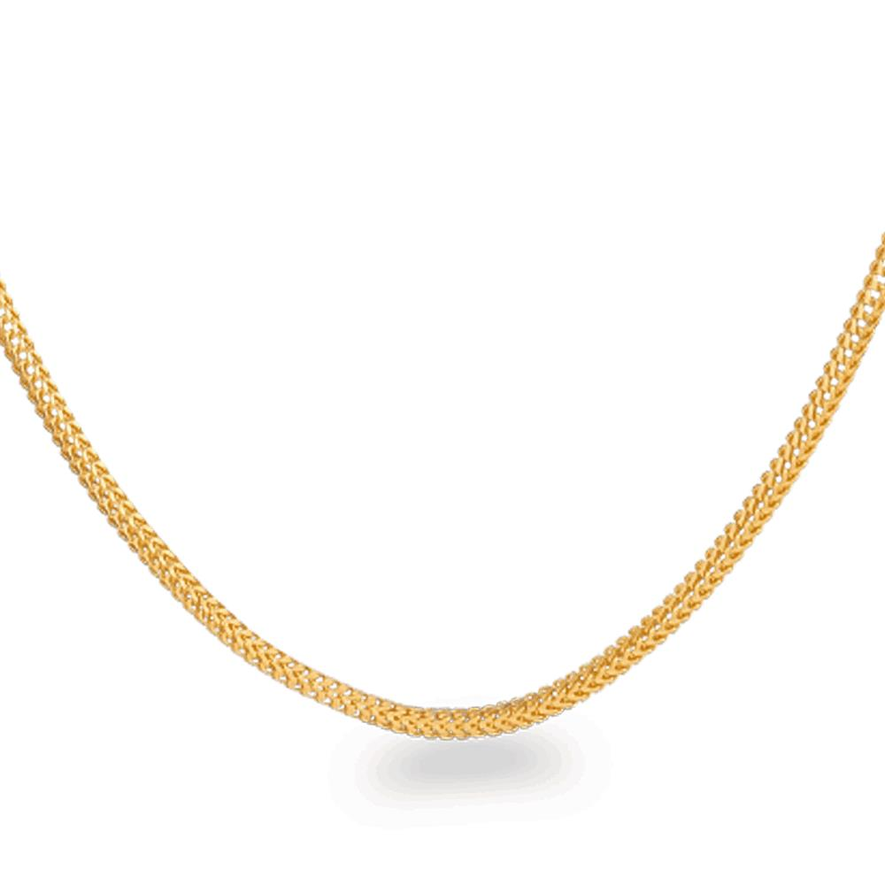 22ct Gold Chain 20 Inches Foxtail CHFX053