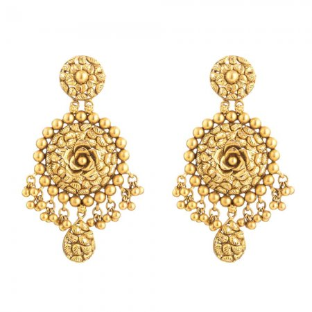 Rosettes Collection 22ct Gold Earring 18.4gm