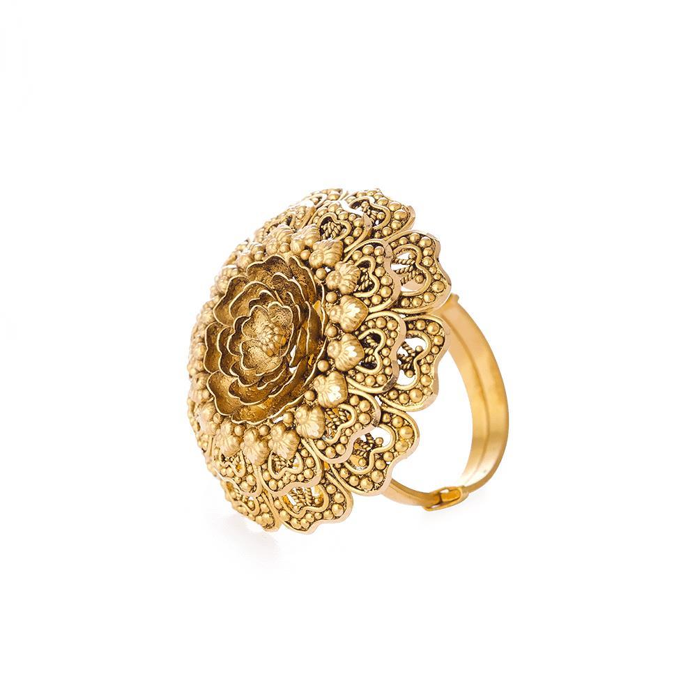 Rosettes Collection 22ct Gold Ring RSRG016