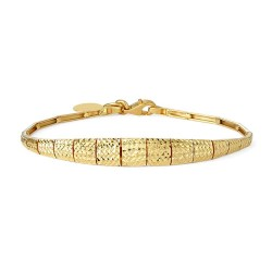 22ct Gold Medium Cut Work Ladies Bracelet YGBR073