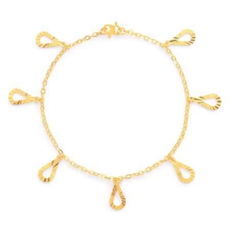 22ct Gold Ladies Bracelet 4.2gm
