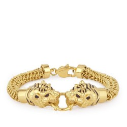 22ct Gold Medium Tiger Gents Bracelet YGGB017