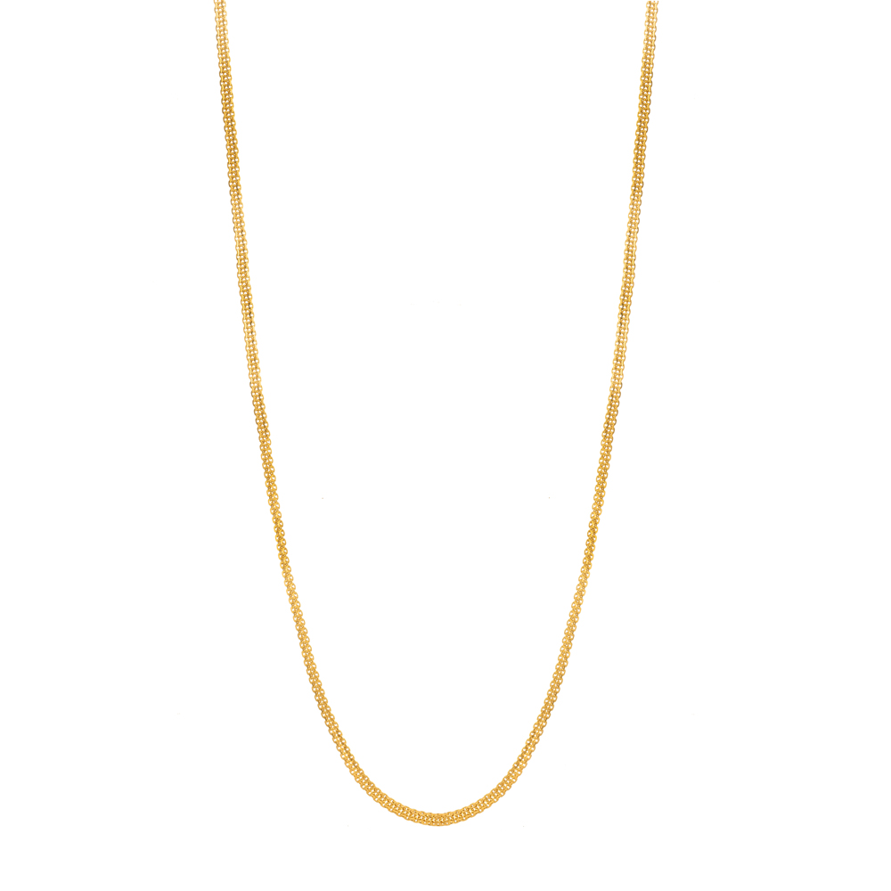 22ct Gold Medium Flat Trace Link Chain CHLK034